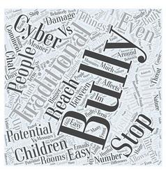 Cyber Bullying VS Traditinal Bullying Word Cloud vector image