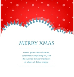 Xmas background with trees and snow vector image