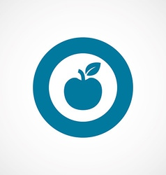 apple bold blue border circle icon vector image vector image