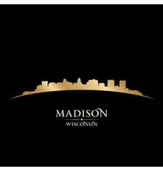 Madison Wisconsin city skyline silhouette vector image