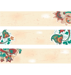 russian pattern background vector image
