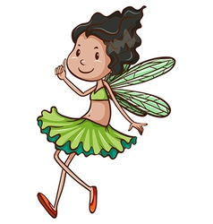 A simple drawing of a fairy vector image