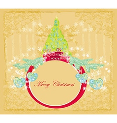 Abstract elegant grunge christmas tree card vector