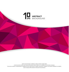 abstract geometric pink or purple polygon on vector image