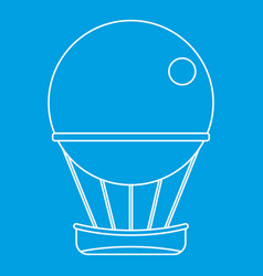 Air balloon journey icon outline style vector