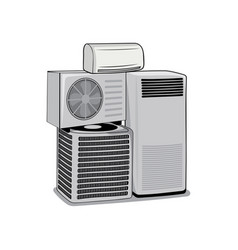 air conditioner devices design vector image