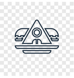 archaeological concept linear icon isolated on vector image