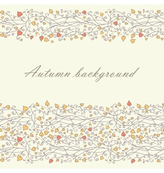 Autumn background with lace vector