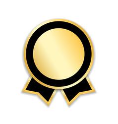 award ribbon gold vector image