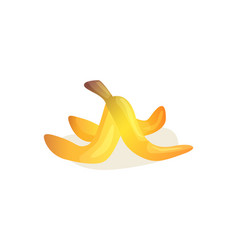 banana skin peel tropical fruit waste icon vector image