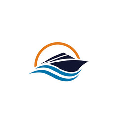 boat logo template vector image