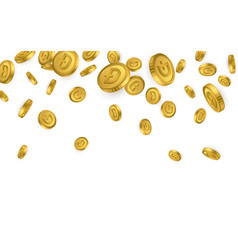 Btc bitcoin gold coins explosion isolated vector