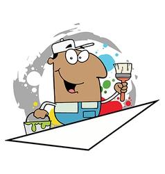 Cartoon painter vector