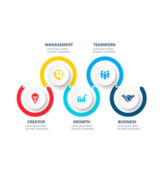 circle infographic elements template for timeline vector image