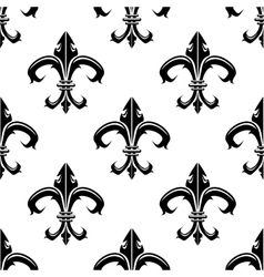 Classical French fleur-de-lis background pattern vector image