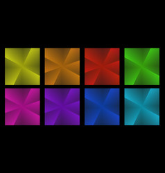 collection of folded paper for origami vector image