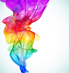 Colorful smoke vector image