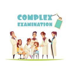 Complex medical examination vector