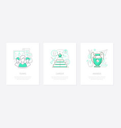 cyber sport and gaming - line design style banners vector image