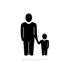 daddy hold hands child icon concept vector image