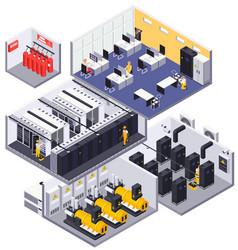 data center isometric concept vector image