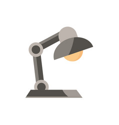 desk lamp office work business equipment icon vector image