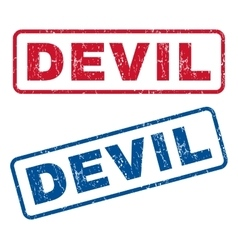 Devil rubber stamps vector