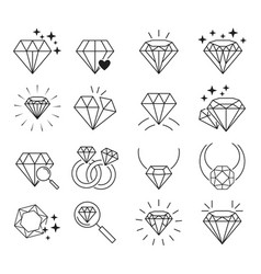 Diamonds icon set vector