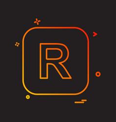 English alphabets icon design vector
