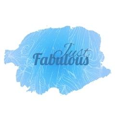 Fabulous blue vector