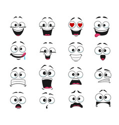 Face expression isolated cartoon emoticons vector
