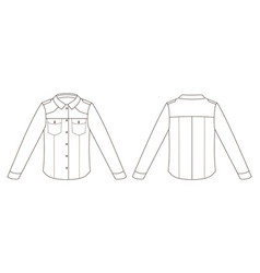 Fashion men technical sketch jacket in vector