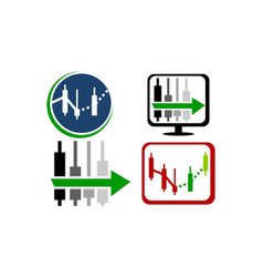 fore sight forex set vector image