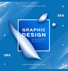 geometric abstract blue background gradient fluid vector image