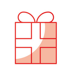 Gift box present icon vector
