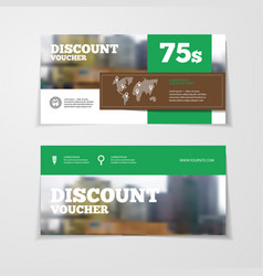 gift or discount voucher template vector image