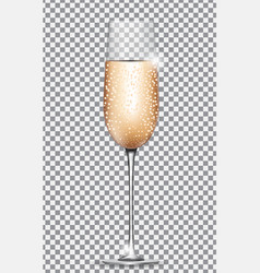 glass of champagne on on transparent background vector image