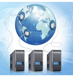 Global Computing Concept vector image