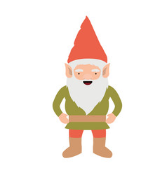 gnome with costume colorful on white background vector image
