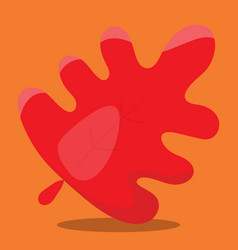 Gobble leaf red 09 vector