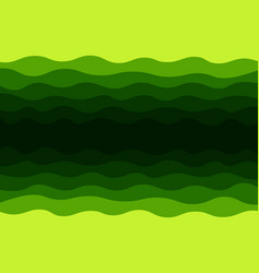 green waves background vector image