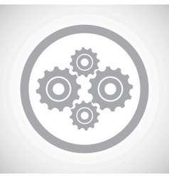 Grey cogs sign icon vector