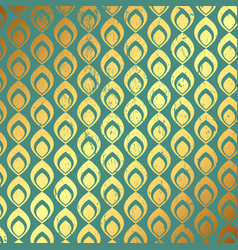 Grunge gold and teal pattern background vector