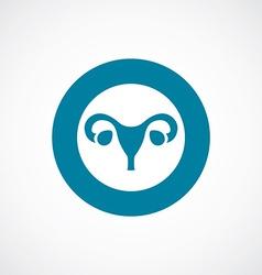 Gynecology icon bold blue circle border vector