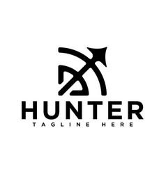 Hunter logo design arrow logo inspirations vector