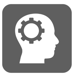 Intellect Gear Flat Squared Icon vector