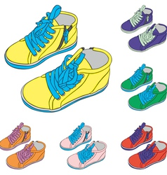 Kid shoes vector