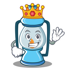 King lantern character cartoon style vector