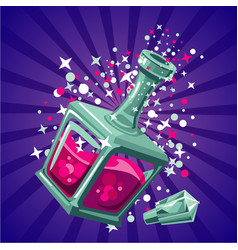 magical elixir game design concept magic bottle vector image vector image