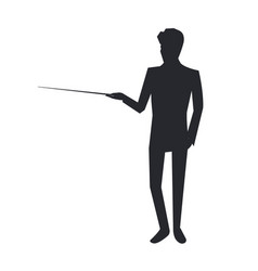 Man icon giving information on vector